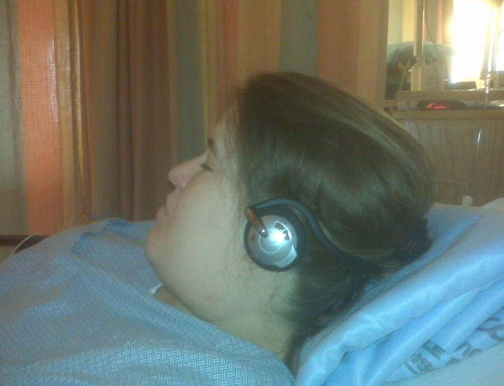 Lady with Headphones